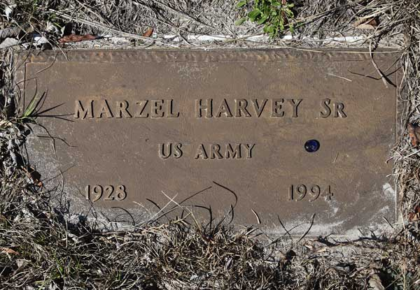 Marzel Harvey Gravestone Photo