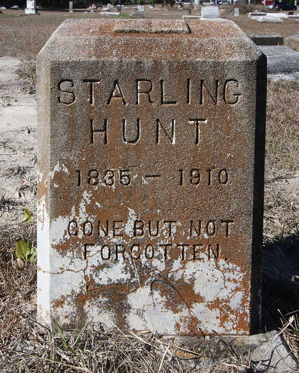 Starling Hunt Gravestone Photo