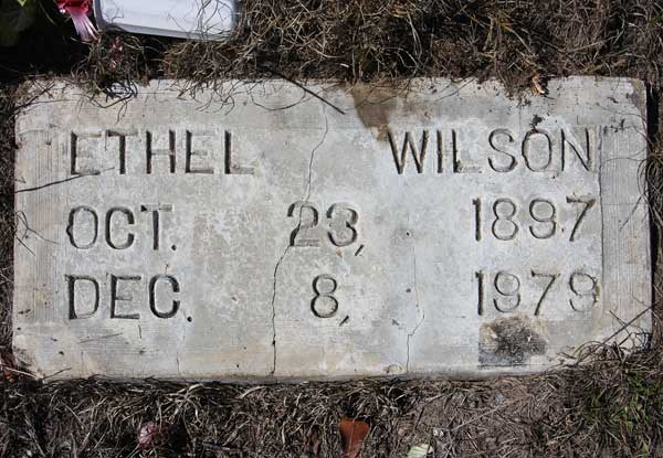Ethel Wilson Gravestone Photo