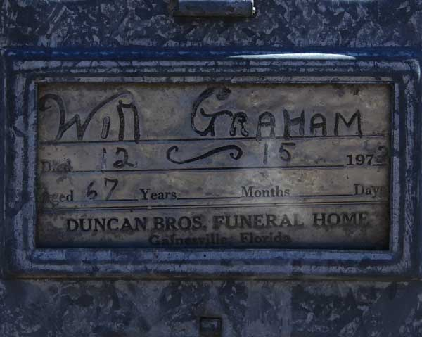 Will Graham Gravestone Photo