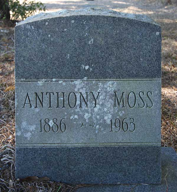Anthony Moss Gravestone Photo