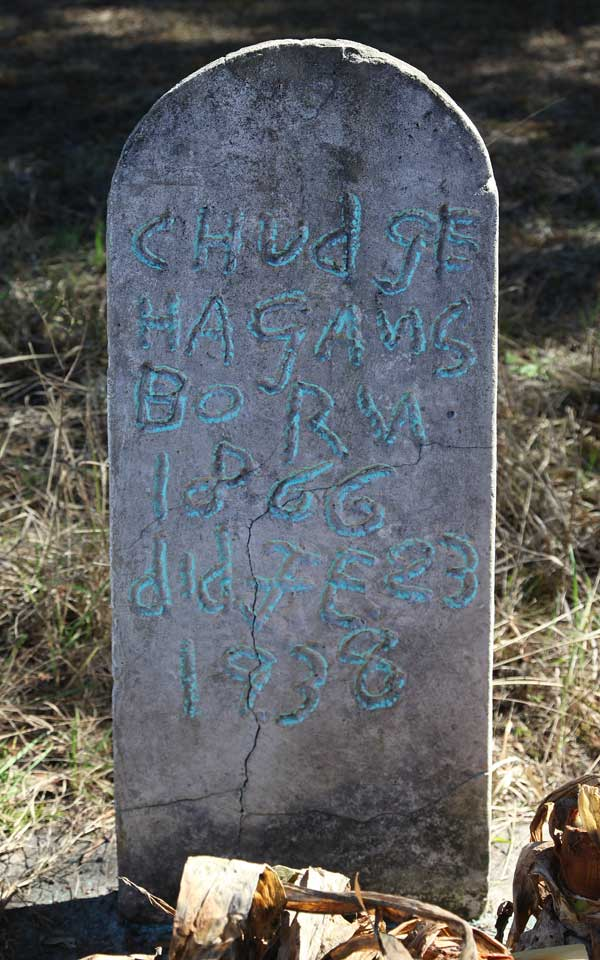 Chudge Hagans Gravestone Photo