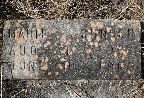 Marie Johnson Gravestone Photo