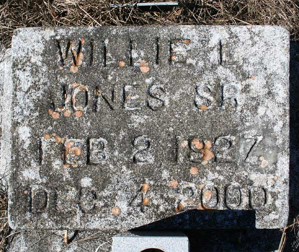 Willie L. Jones Gravestone Photo