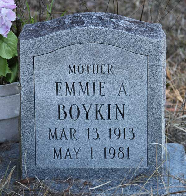 Emmie A. Boykin Gravestone Photo