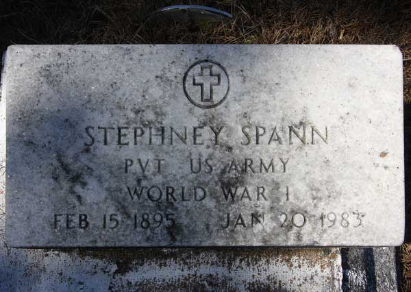 Stephney Spann Gravestone Photo