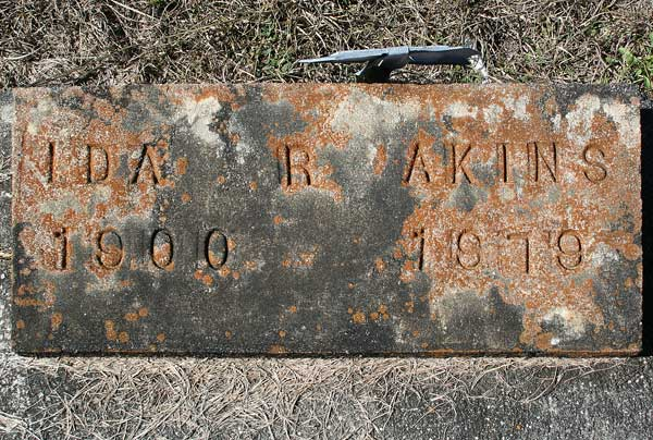 Ida R. Akins Gravestone Photo