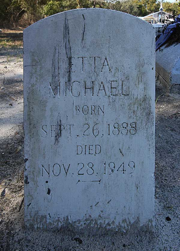 Etta Michael Gravestone Photo