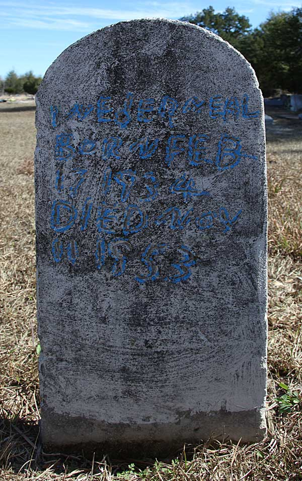 Weber Neal Gravestone Photo