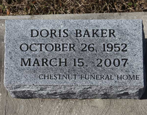 Doris Baker Gravestone Photo