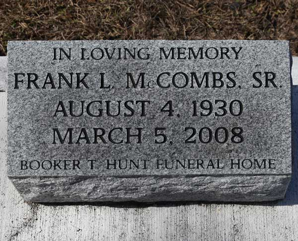 Frank L.M. McCombs Gravestone Photo