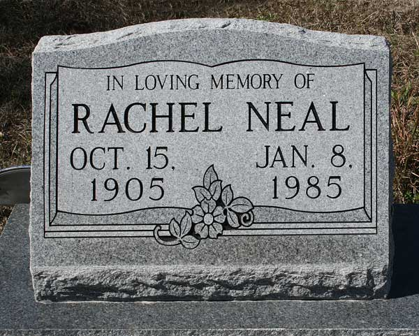 Rachel Neal Gravestone Photo