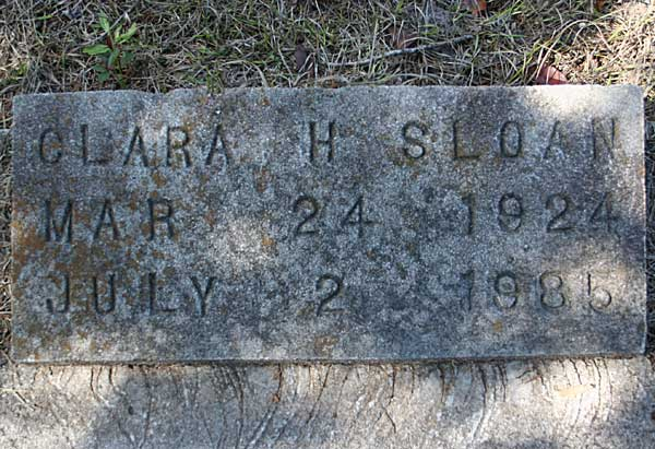 Clara H. Sloan Gravestone Photo