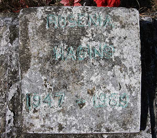 Rosenia Hagins Gravestone Photo