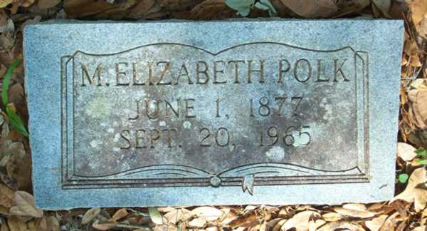 M. Elizabeth Polk Gravestone Photo