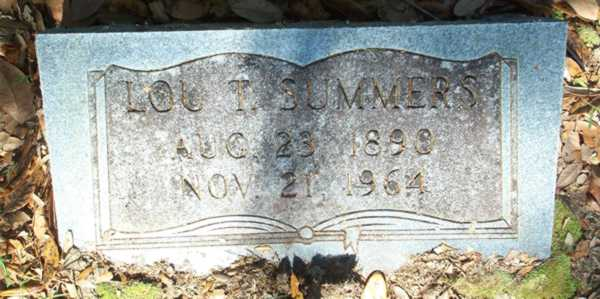 Lou T. Summers Gravestone Photo