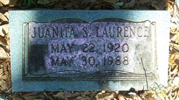 Juanita S. Laurence Gravestone Photo