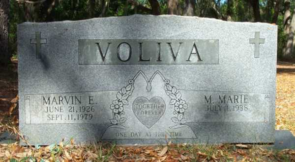 Marvin E. & M.Marie Voliva Gravestone Photo
