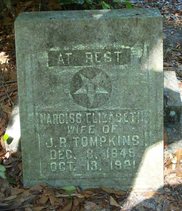 Narciss Elizabeth Tompkins Gravestone Photo