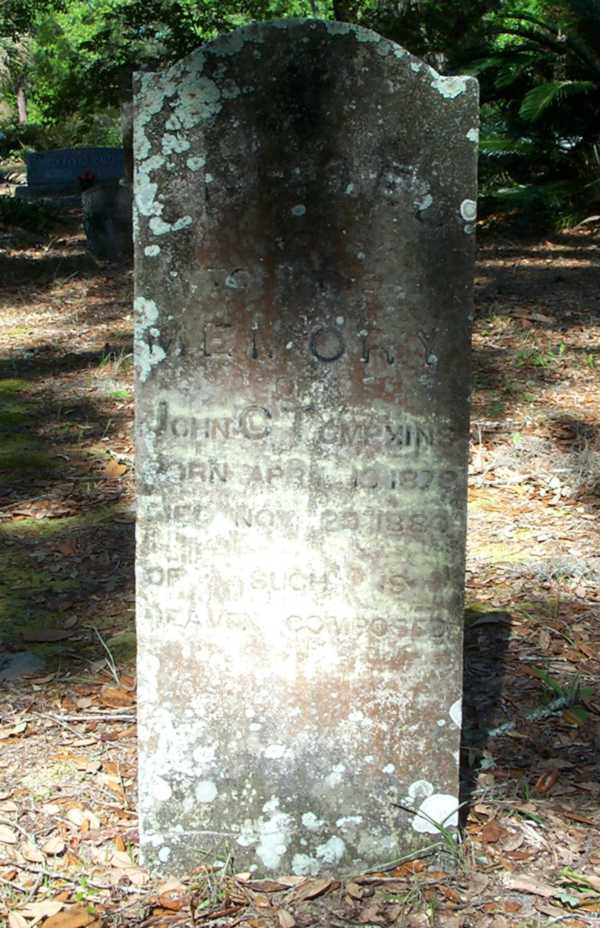 John C. Tompkins Gravestone Photo