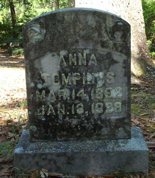 Anna Tompkins Gravestone Photo