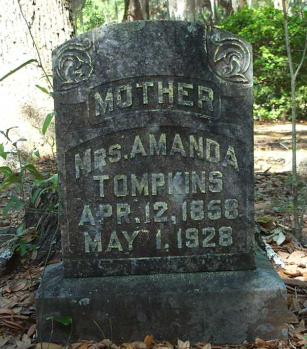 Amanda Tompkins Gravestone Photo