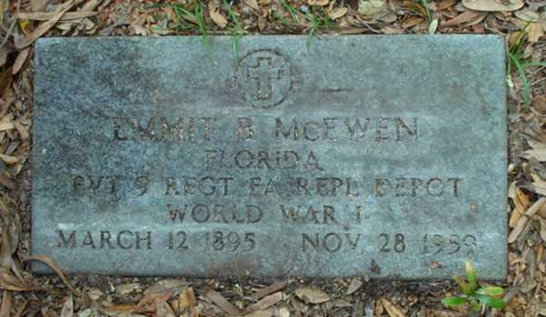 Emmit B. McEwen Gravestone Photo