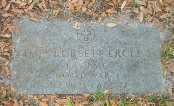 James Corbett Ergle Gravestone Photo
