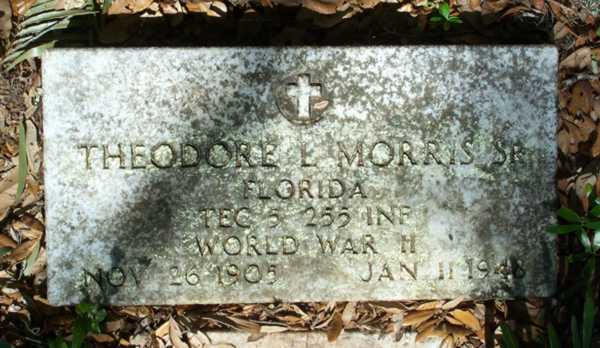 Theodore E. Morris Gravestone Photo