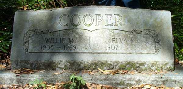 Willie M. & Eva L. Cooper Gravestone Photo