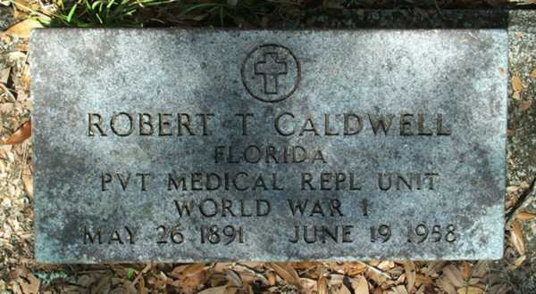 Robert T. Caldwell Gravestone Photo