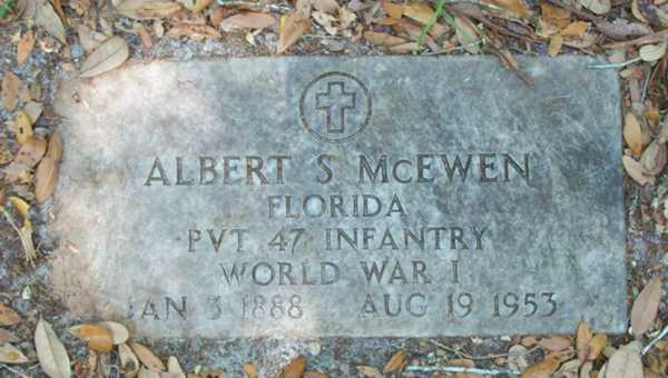Albert S. McEwen Gravestone Photo