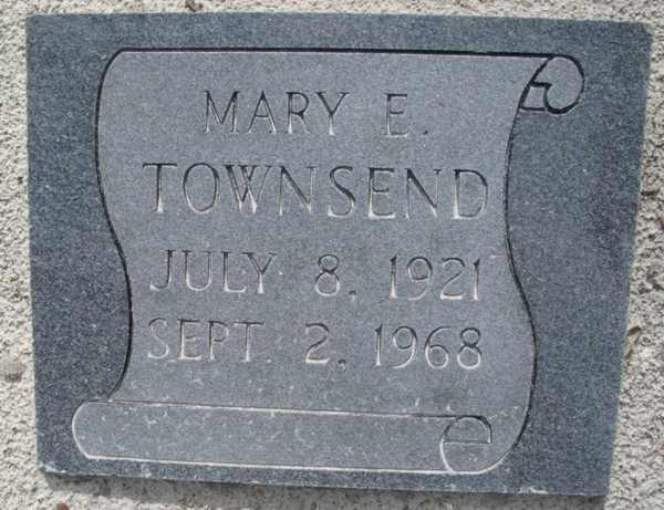 Mary E. Townsend Gravestone Photo