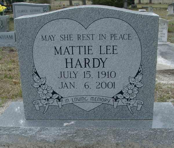 Mattie Lee Hardy Gravestone Photo