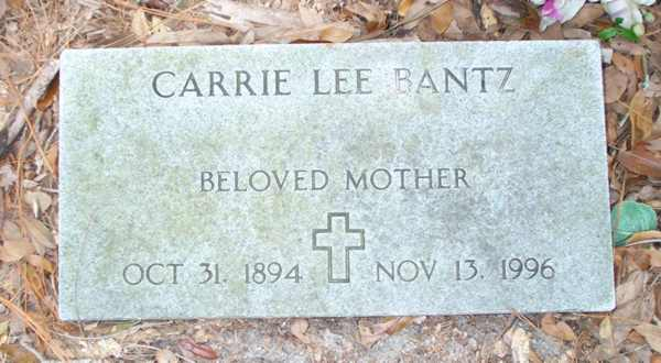 Carrie Lee Bantz Gravestone Photo