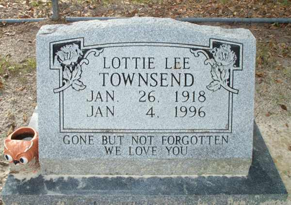 Lottie Lee Townsend Gravestone Photo