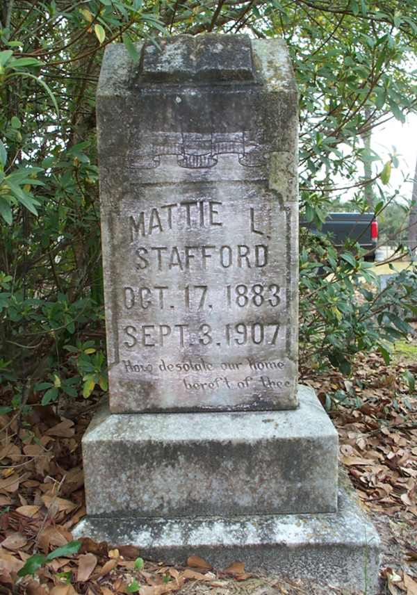Mattie L. Stafford Gravestone Photo