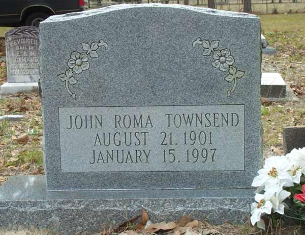 John Roma Townsend Gravestone Photo