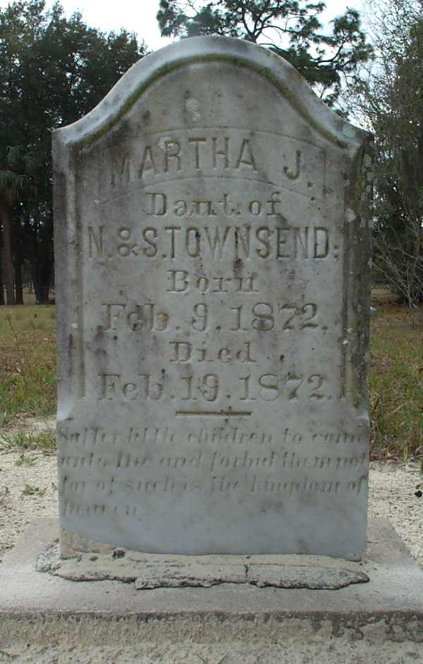 Martha J. Townsend Gravestone Photo