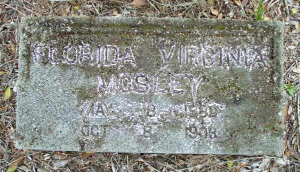 Florida Virginia Mosley Gravestone Photo