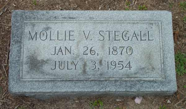 Millie V. Stegall Gravestone Photo