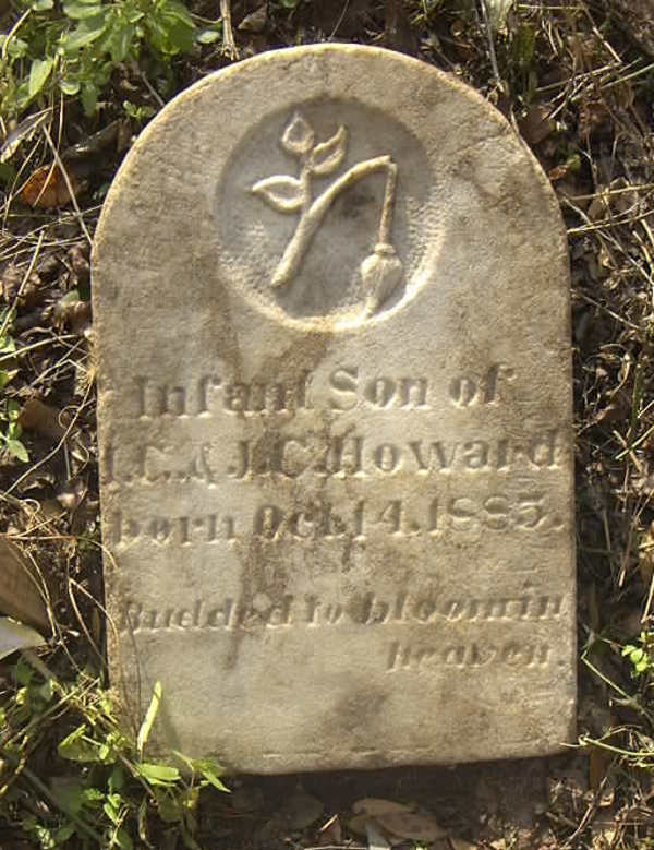 Infant Son of Howard Gravestone Photo