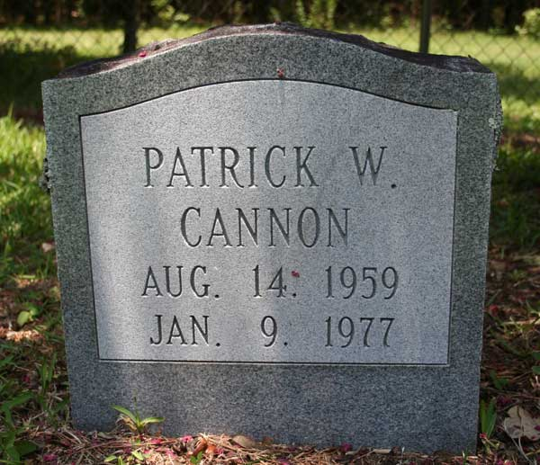Patrick W. Cannon Gravestone Photo