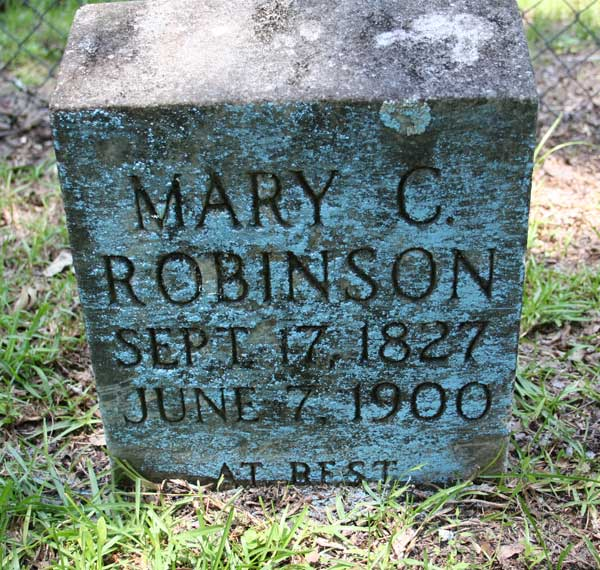 Mary C. Robinson Gravestone Photo