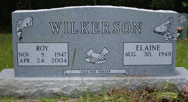 Roy & Elaine Wilkerson Gravestone Photo