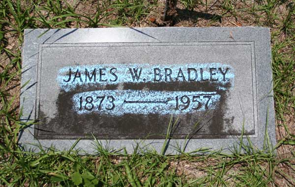 James W. Bradley Gravestone Photo