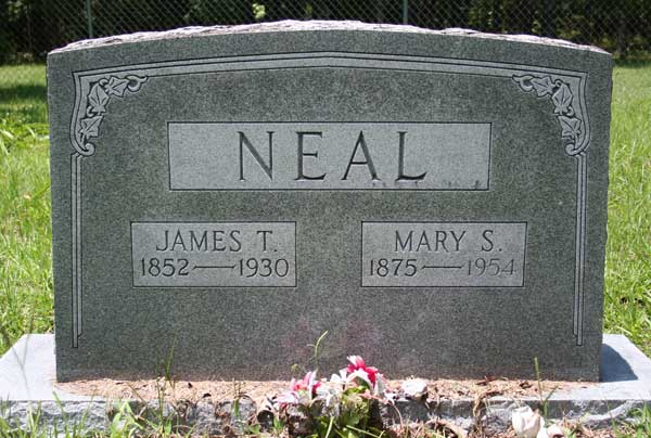 James T. & Mary S. Neal Gravestone Photo