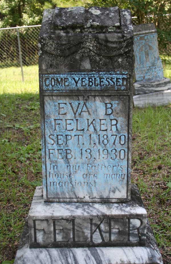 Eva B. Felker Gravestone Photo