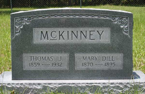 Thomas J. & Mary Dill McKinney Gravestone Photo