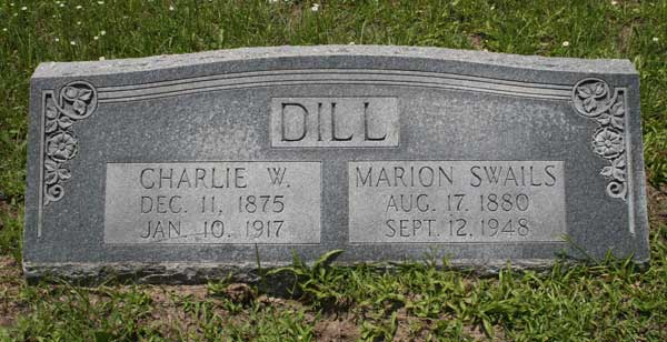 Charlie W. & Marion Swails Dill Gravestone Photo